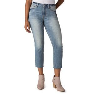 Levi Strauss High Rise Slim Crop Jeans Raw Hem 18